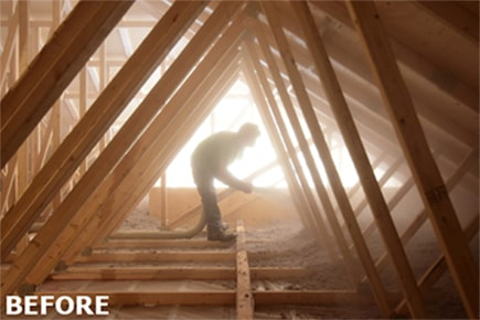 before attic insulation contractor great northern insulation ontario toronto