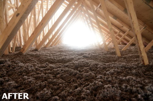 Attic Insulation - After Picture