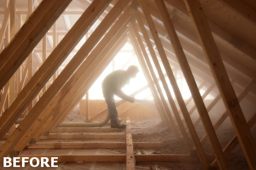 Attic Insulation In Peterborough Great Northern Insulation