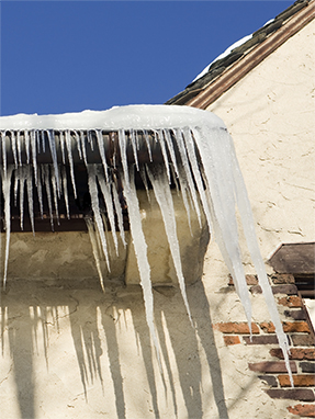 ice damming services prevention icicles roof