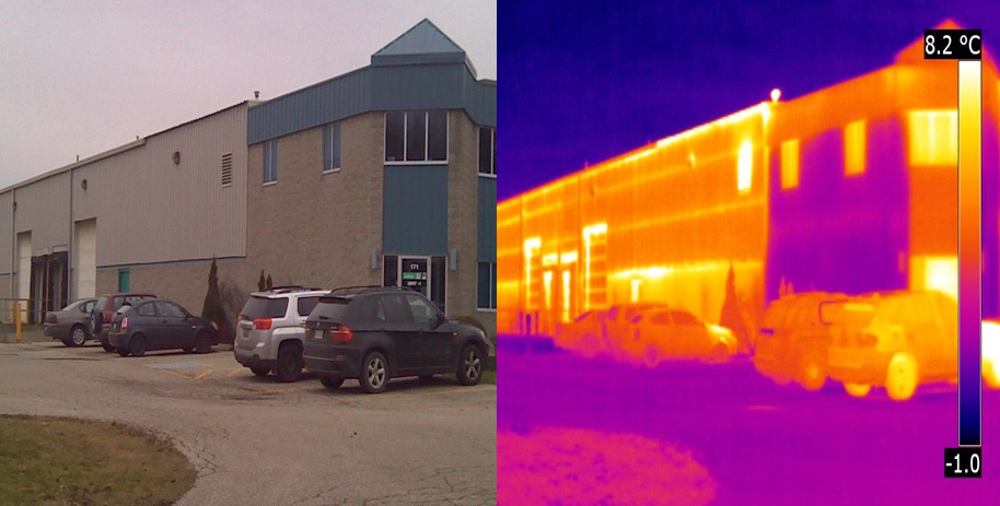 before after thermal imaging air leakage solutions